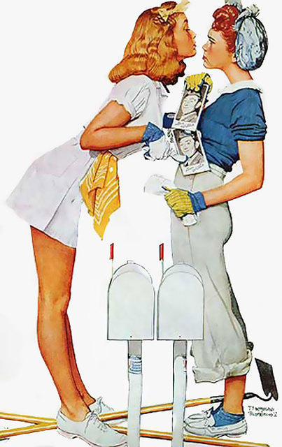 4158414771 9c9f8cc4ee ... fighting over Willie - by Norman Rockwell O