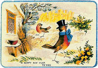 4188621714 6ccf3e6356 HAPPY NEW YEAR VINTAGE CARD x