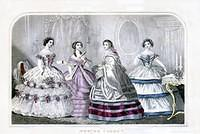 3801877379 7668f9d6ce February 1860 Godey s Lady s Book Fashion Plate O