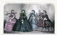 3802402967 8b6b6a8caf March 1860 Godey s Lady s Book Fashion Plate O