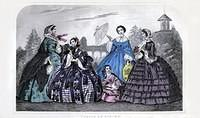 3803244763 2cd8a694bf April 1860 Godey s Lady s Book Fashion Plate O