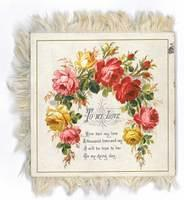4342514447 b029eb9a52 Victorian Valentine s card with rose design M378.2 O