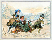 4188611038 4164f711b6 CHRISTMAS JOYS VINTAGE CARD x