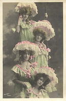 Vintage Ladies Cabinet Cards (124)