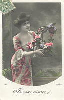 Vintage Ladies Cabinet Cards (125)