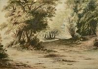 4005764206 c22b88c396 Miniature watercolour by Arthur House age 14yrs A Glade in Epsom Forest. Late 1800s early 1900s O