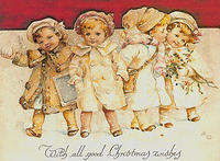 4188608684 7484b629ce GOOD CHRISTMAS WISHES VINTAGE CARD x