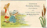 4218849270 4d7358c381 1880s Artist Kate Greenaway Goffes Circulating Library Stationery Dry Goods Store Albany New York O